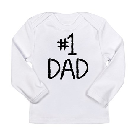 Number 1 dad Long Sleeve Infant T-Shirt