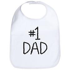 Number 1 dad Bib