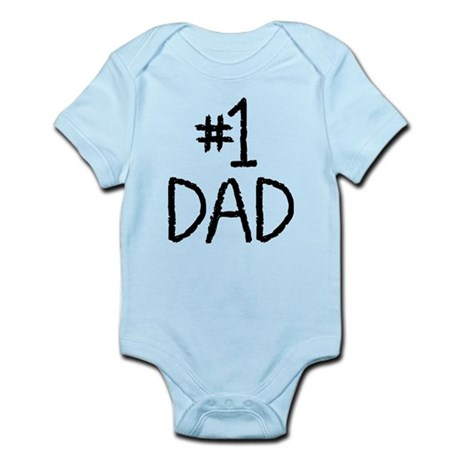Number 1 dad Infant Bodysuit