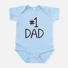 Number 1 dad Infant Bodysuit