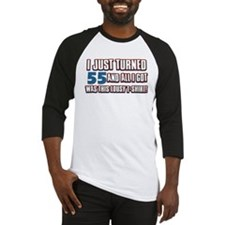 55 birthday designs Baseball Jersey