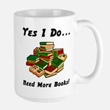 More Books! Large Mug