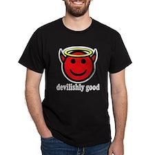 Devilishly Good Smiley Black T-Shirt