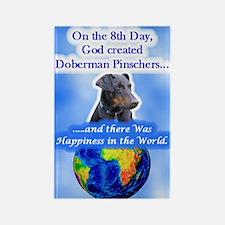 Doberman (Black & Tan, Nat Ears) Rectangle Magnet