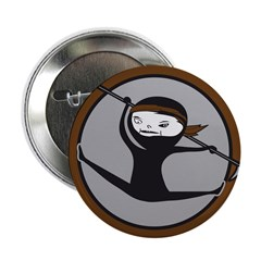 "Brown Belt Ninja 2.25"" Button (10 pack)"