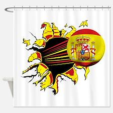 Spain Football Shower Curtain