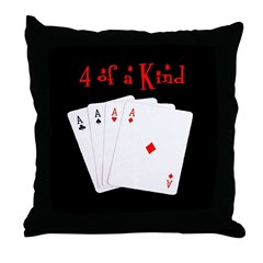 4 of a Kind Aces Retro Throw Pillow
