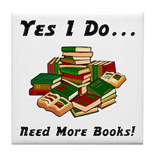 More Books! Tile Coaster
