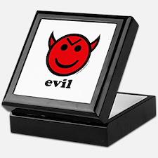 Evil Smiley Devil & Horns Keepsake Box