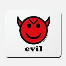 Evil Smiley Devil & Horns Mousepad