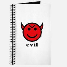 Evil Smiley Devil & Horns Journal