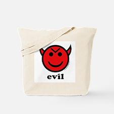 Evil Smiley Devil & Horns Tote Bag