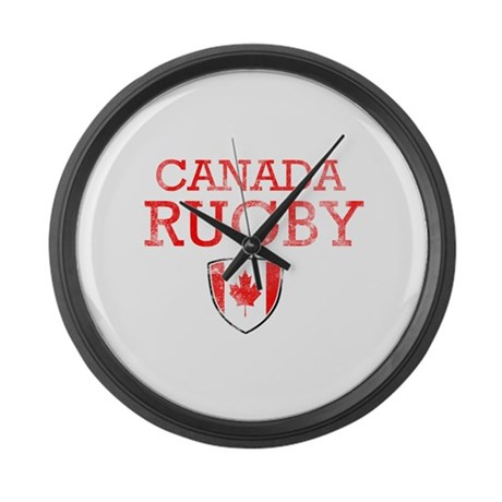 canada rugby designs large wall clock by madscientees