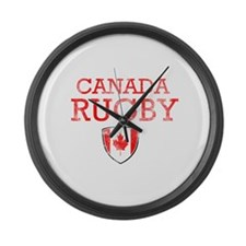 Canada Rugby designs Large Wall Clock
