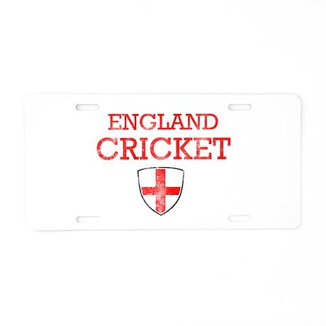 England Cricket designs Aluminum License Plate