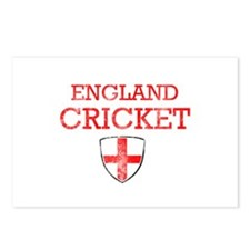 England Cricket designs Postcards (Package of 8)