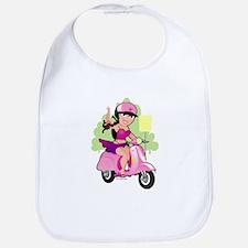 Dainty Scooter Girl Bib
