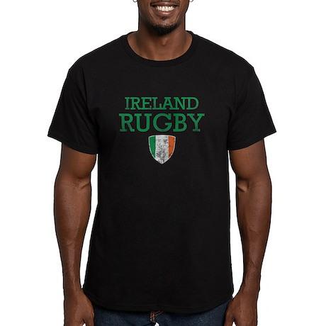 Ireland Rugby designs Men's Fitted T-Shirt (dark)