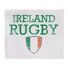 Ireland Rugby designs Throw Blanket