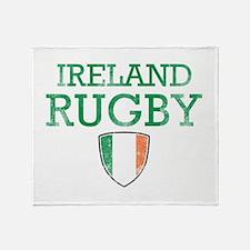 Ireland Rugby designs Throw Blanket