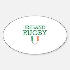 Ireland Rugby designs Sticker (Oval)
