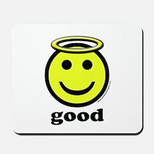 Good Smiley Angel & Halo Mousepad