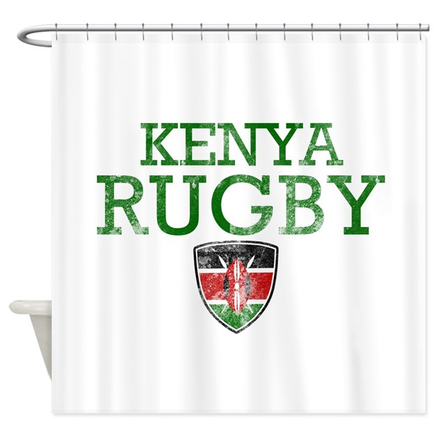 Kitchen Curtains In Kenya: Kenya Rugby Designs Shower Curtain By Madscientees