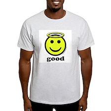 Good Smiley Angel & Halo Ash Grey T-Shirt