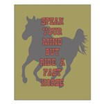 Fast Horse Quote Small Poster