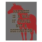 Happiness Quote Small Poster