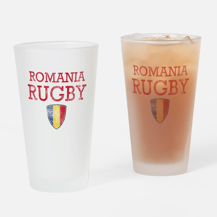 Romania Rugby designs Drinking Glass