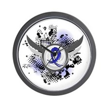 Wings and Ribbon Child Abuse Wall Clock