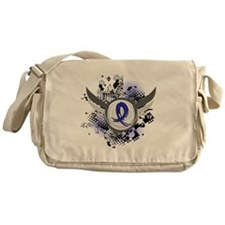 Wings and Ribbon Child Abuse Messenger Bag