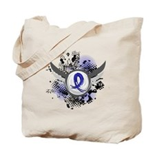 Wings and Ribbon Child Abuse Tote Bag