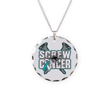 Screw Cervical Cancer Necklace Circle Charm