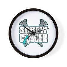 Screw Cervical Cancer Wall Clock