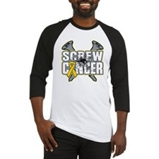Screw Childhood Cancer Baseball Jersey