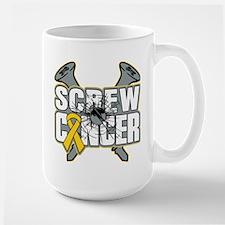 Screw Childhood Cancer Mug