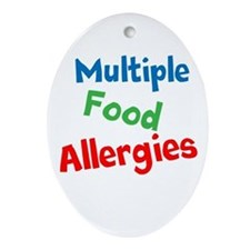 Multiple Food Allergies Ornament (Oval)