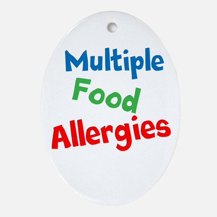 Multiple Food Allergies Ornament (Oval)
