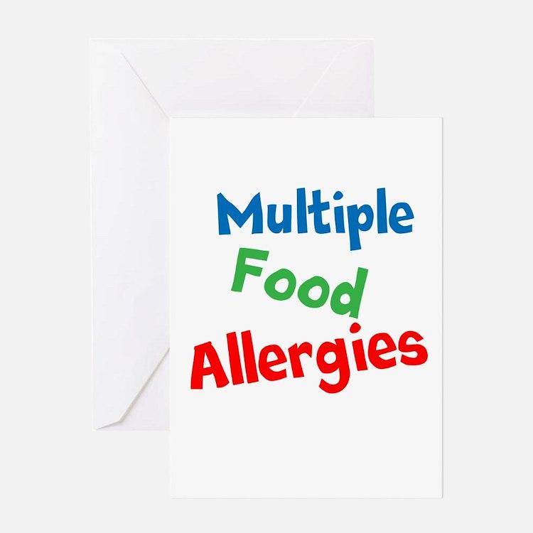 Multiple Food Allergies Greeting Card