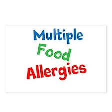 Multiple Food Allergies Postcards (Package of 8)