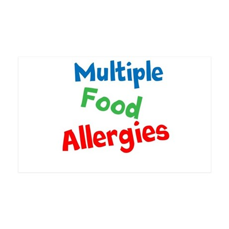 Multiple Food Allergies 35x21 Wall Decal