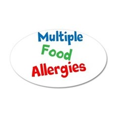 Multiple Food Allergies Wall Decal