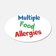 Multiple Food Allergies Wall Decal