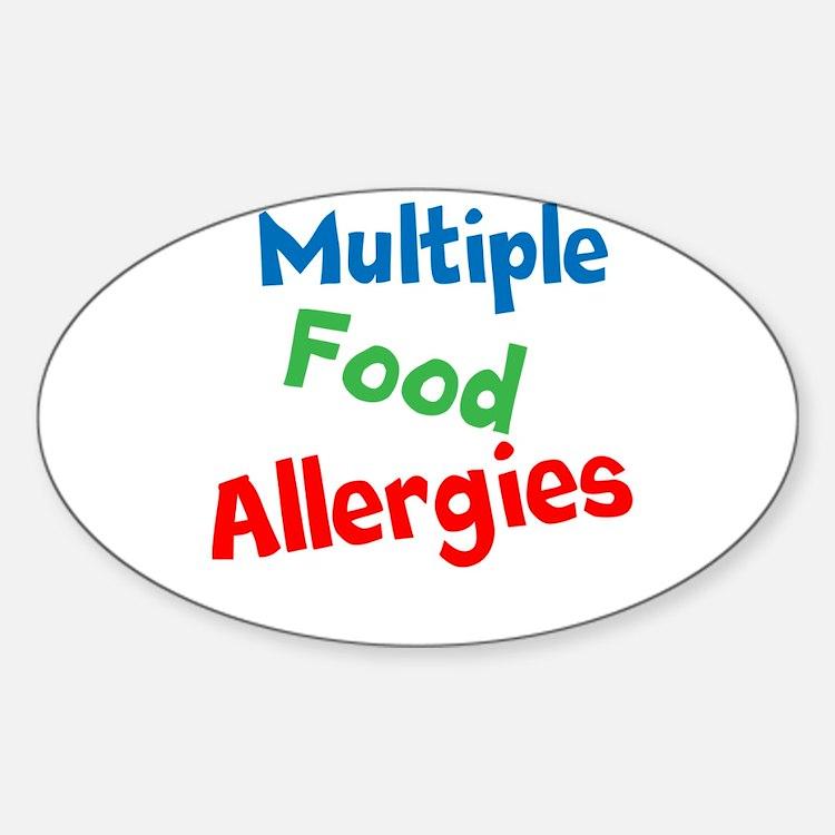 Multiple Food Allergies Sticker (Oval)