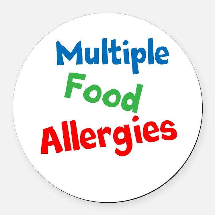 Multiple Food Allergies Round Car Magnet