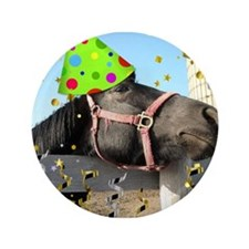 """Party Animal Horse 3.5"""" Button (100 pack)"""