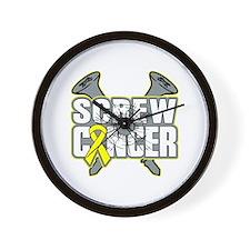Screw Ewing Sarcoma Wall Clock