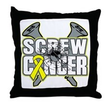 Screw Ewing Sarcoma Throw Pillow